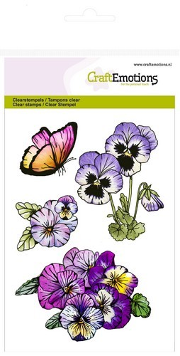 Craft Emotions Clearstamps - violets 1