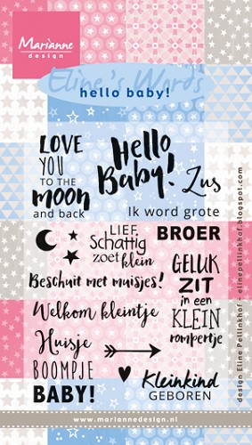 Clearstamp Marianne Design - Eline`s Words Sweet Baby