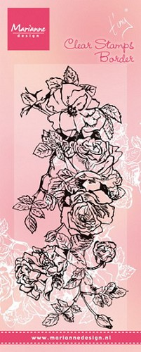 Clearstamp Marianne Design - Tiny`s Border - rozen