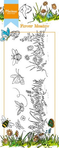 Clearstamp Marianne Design - Hetty`s Border - bloementuin