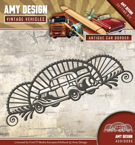 Amy Design Stans - Vintage Vehicles - antique car border
