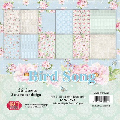 Craft & You Paper Pad - Bird Song