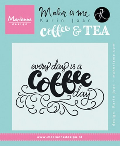 Clearstamp Marianne Design - Karin Joan - Coffee & Tea KJ1708