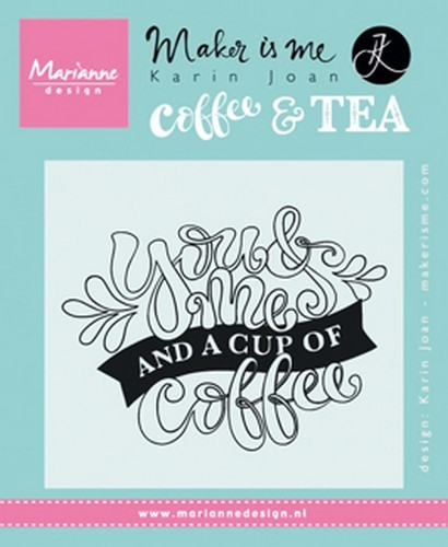 Clearstamp Marianne Design - Karin Joan - Coffee & Tea KJ1709