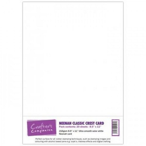 Crafter`s Companion Neenah Classic Crest Card - solar white