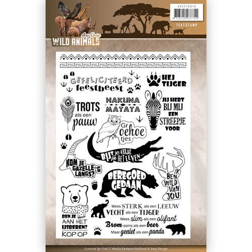 Clearstamps Amy Design - Wild Animals (tekst)