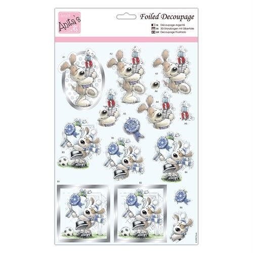 Docrafts Foiled Decoupage Stansvel - Top Dog