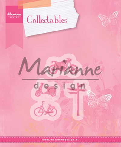 Collectables Marianne Design - village decoration set bycicle