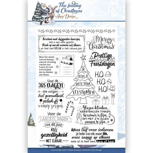 Clearstamps Amy Design - The Feeling of Christmas (tekst)