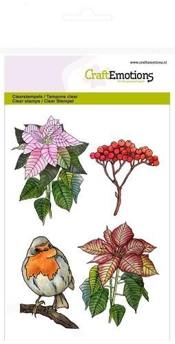 Clearstamps Craft Emotions - poinsettia