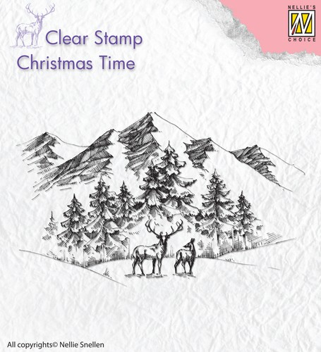 Clearstamp Nellie Snellen - Christmas Time CT018
