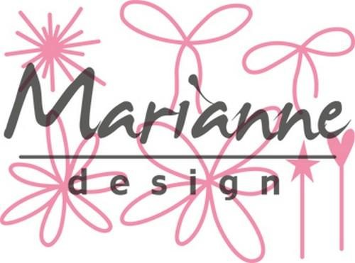 Collectables Marianne Design - giftwrapping - pins and bows