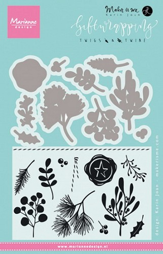 Clearstamps Marianne Design - Karin Joan Giftwrapping - twigs & twine
