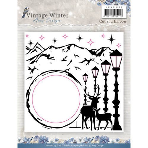 Amy Design Cut and Embos Folder - Vintage Winter