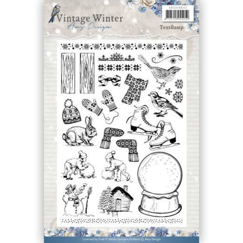 Clearstamps Amy Design - Vintage Winter