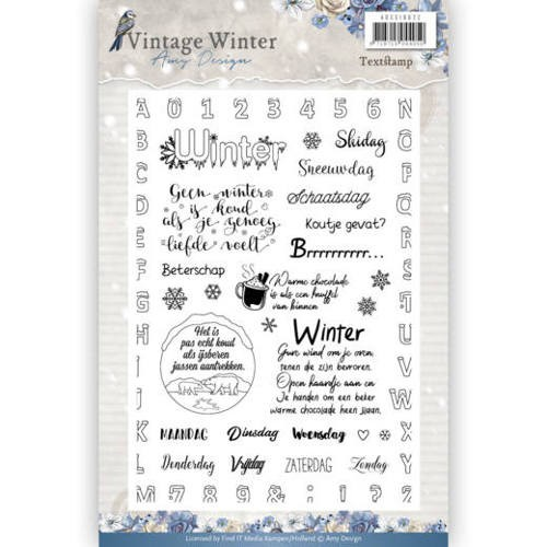 Clearstamps Amy Design - Vintage Winter (tekst)