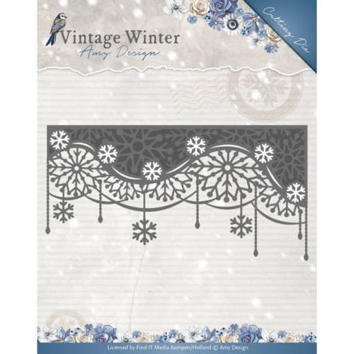 Amy Design Stans - Vintage Winter - snowflake swirl edge