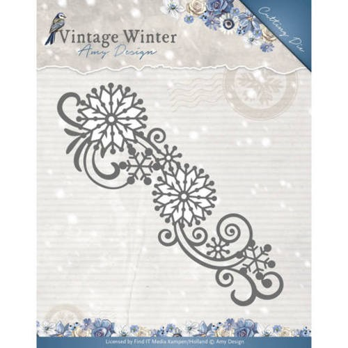 Amy Design Stans - Vintage Winter - snowflake swirl border