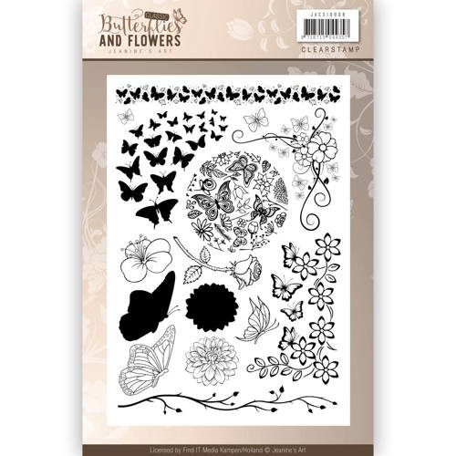 Clearstamps Jeanine`s Art - Butterflies and Flowers