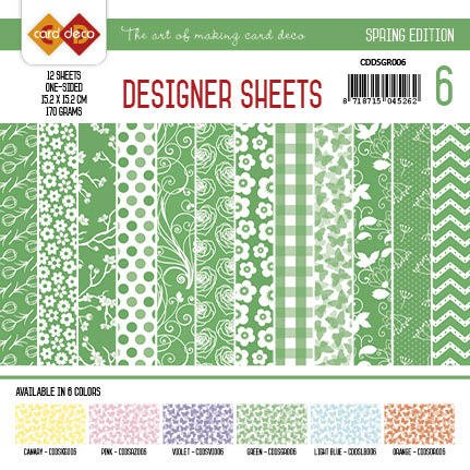 Card Deco Designer Sheets - Spring Edition - groen
