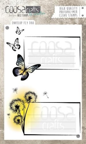 Clearstamps Coosa Crafts - envelope fly duo