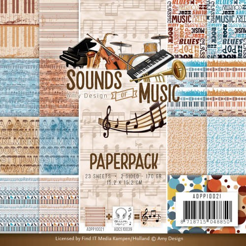 Amy Design Paper Pack - Sounds of Music