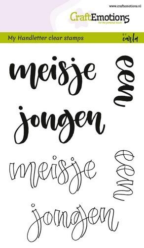 Clearstamps Craft Emotions - Handletter - meisje jongen
