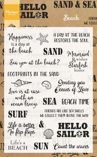 Clearstamps Marianne Design - Beach Sentiments