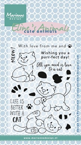 Clearstamps Marianne Design - Eline`s Kittens