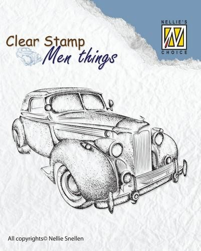 Clearstamp Nellie Snellen - Men Things - oldtimer