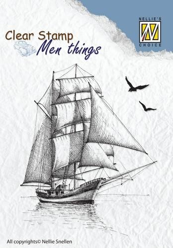 Clearstamp Nellie Snellen - Men Things - sailingboat