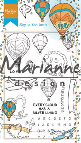 Clearstamps Marianne Design - Hetty`s Sky is the Limit
