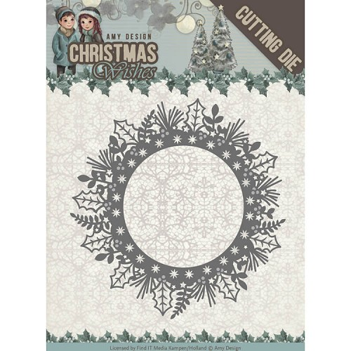Amy Design Stans - Christmas Wishes - holly wreath