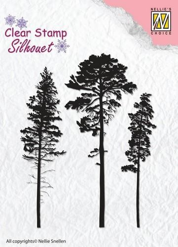 Clearstamp Nellie Snellen - Silhouet - 3 pinetrees