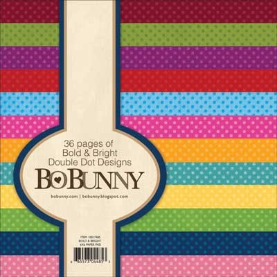 Bo Bunny Paper Pad - Bold & Bright Double Dot Designs