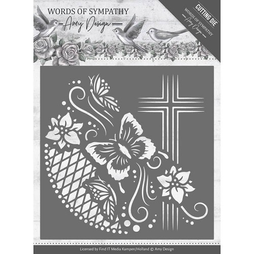 Amy Design Stans - Words of Sympathy - cross frame