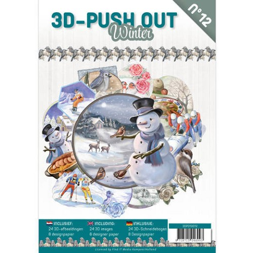 3D Push Out Book - winter