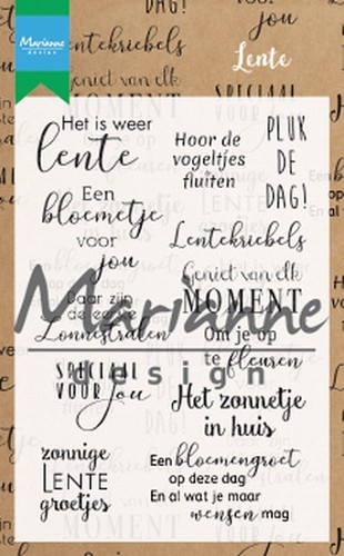 Clearstamps Marianne Design - Lente