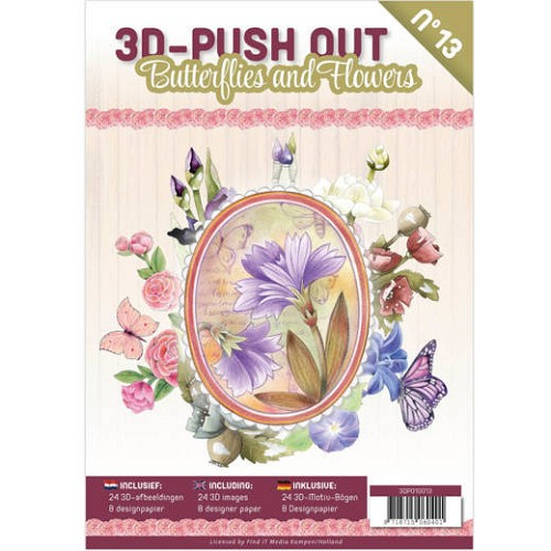 3D Push Out Book - butterflies and flowers
