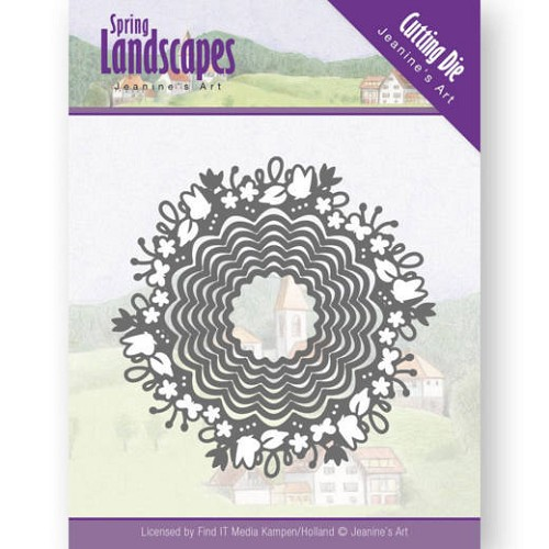 Jeanine`s Art Stans - Spring Landscapes - spring scalloped circle