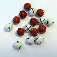 Belletjes 8 mm - rood/wit