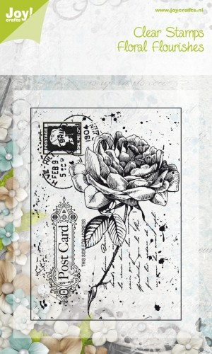 Clearstamp Joy - Old Letter Rose 2