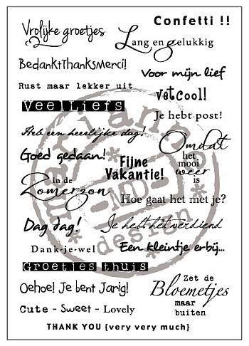 Clearstamps Marianne Design - Eline`s Dutch Sentiments