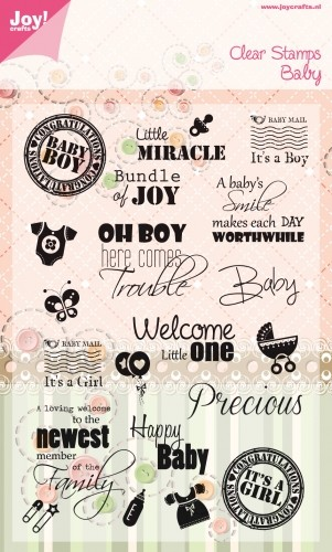 Joy Clearstamps - Engelse Teksten Baby `t Hobby Hoekje